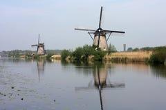 Windmills of kinderdijk holland Stock Photography