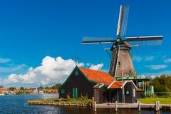 Windmills in Zaanse Schans, Holland, Netherlands Royalty Free Stock Photography