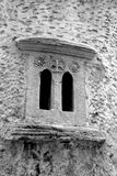 Window of old church in Malia. Royalty Free Stock Photography
