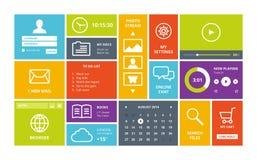 Windows 8 modern UI design layout Stock Image
