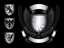 Winged Shield Insignia Royalty Free Stock Image
