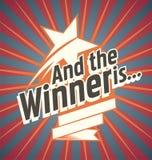 Winner banner design Royalty Free Stock Images