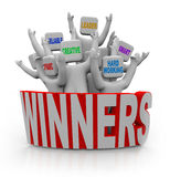 Winners - People with Teamwork Qualities Royalty Free Stock Photography