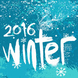 2016 Winter background Royalty Free Stock Photos