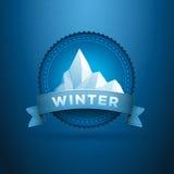 Winter badge Royalty Free Stock Photos