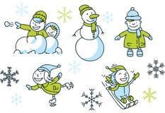 Winter Fun Set Royalty Free Stock Photo