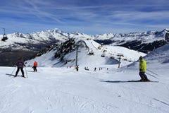 Winter landscape in the ski resort of La Plagne, France Royalty Free Stock Photography
