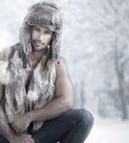 Winter male fashion Royalty Free Stock Image