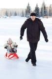 Winter recreation Stock Photos