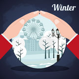 Winter season design Royalty Free Stock Photography