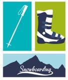 Winter-Sportdesign Lizenzfreie Stockfotos
