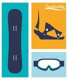 Winter-Sportdesign Stockbild
