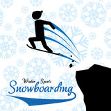 Winter-Sportdesign Stockfotos