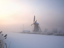 Winter sunrise in Holland Stock Images