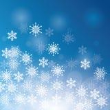 Winterschnee oder -schneeflocke Stockbild