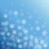 Winterschnee oder -schneeflocke Stockfotos