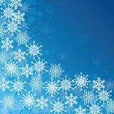 Winterschnee oder -schneeflocke Stockfoto