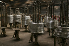 Wire coils machine Stock Image