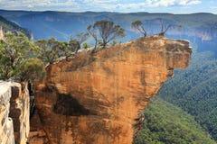 Wiszące Rockowe Błękitne góry Australia Zdjęcia Stock
