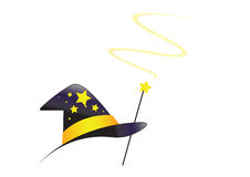 Wizard hat with swirl - vector Stock Photos