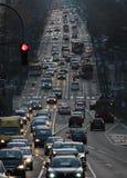 Wochenendverkehr in Belgrad, Straße Kneza Milosa Stockfoto