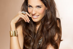 Woman With Beautiful Hair Royalty Free Stock Photos