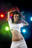 Woman dancing in disco Stock Photography