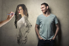 Woman designed Stock Photography