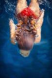 Woman dive Stock Image