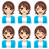 Woman Expressions Set Royalty Free Stock Image