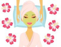 Woman having beauty treatment Stock Photo