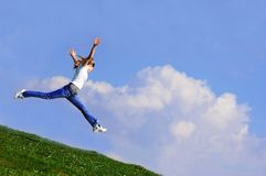 Woman jump Royalty Free Stock Photo