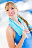 Woman living a healthy lifestyle Stock Photo