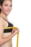 Woman Measuring Bust Stock Photos