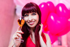 Woman partying in club Royalty Free Stock Photography