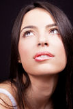 Woman with sexy lips expressing desire Royalty Free Stock Photo