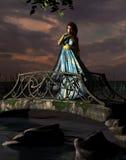 Woman standing on bridge Stock Photography