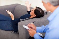 Woman talking psychologist Stock Image