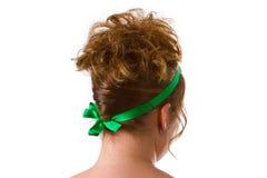 Woman with an updo hair Stock Photos