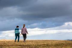 Women Walking Explore Nature Parks Royalty Free Stock Image