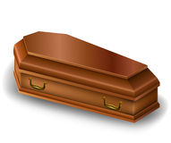 Wood coffin Stock Photo