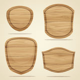 Wood elements Royalty Free Stock Images