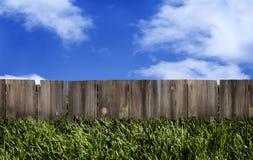 Wood Fence Blue Sky Royalty Free Stock Image