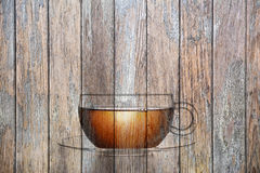 Wood Tea Cup Background Stock Photo