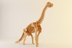 Wooden brontosaurus Royalty Free Stock Photos