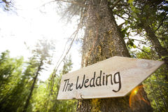 Wedding Ceremony Sign Royalty Free Stock Images