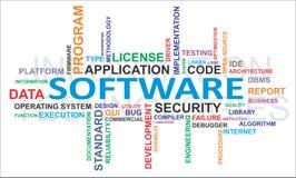 Word cloud - software Stock Photos