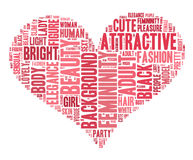 Word cloud - woman Stock Images