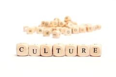 Word with dice culture Royalty Free Stock Image