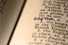 The word English Royalty Free Stock Photo